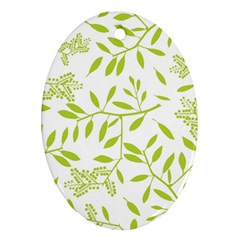 Leaves Pattern Seamless Oval Ornament (two Sides) by Simbadda