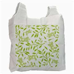 Leaves Pattern Seamless Recycle Bag (one Side) by Simbadda