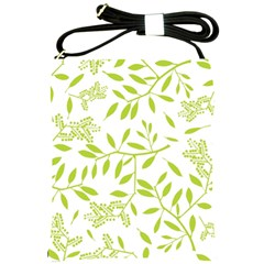 Leaves Pattern Seamless Shoulder Sling Bags by Simbadda
