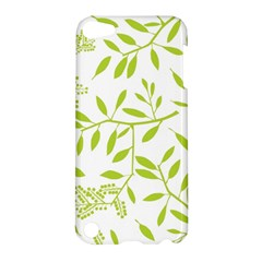 Leaves Pattern Seamless Apple Ipod Touch 5 Hardshell Case by Simbadda