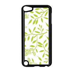 Leaves Pattern Seamless Apple Ipod Touch 5 Case (black) by Simbadda