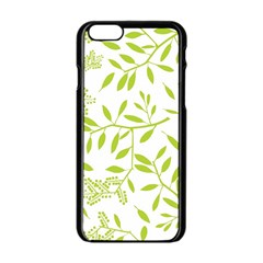 Leaves Pattern Seamless Apple Iphone 6/6s Black Enamel Case by Simbadda
