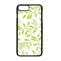 Leaves Pattern Seamless Apple Iphone 7 Plus Seamless Case (black) by Simbadda
