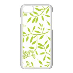 Leaves Pattern Seamless Apple Iphone 7 Seamless Case (white) by Simbadda