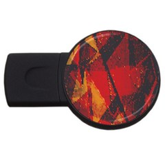 Surface Line Pattern Red USB Flash Drive Round (4 GB)
