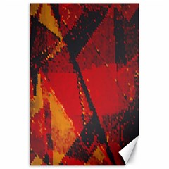 Surface Line Pattern Red Canvas 24  X 36