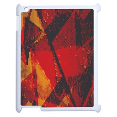 Surface Line Pattern Red Apple Ipad 2 Case (white) by Simbadda