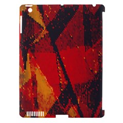 Surface Line Pattern Red Apple Ipad 3/4 Hardshell Case (compatible With Smart Cover) by Simbadda
