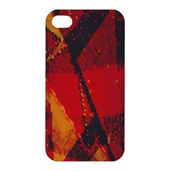 Surface Line Pattern Red Apple Iphone 4/4s Premium Hardshell Case by Simbadda