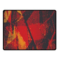 Surface Line Pattern Red Double Sided Fleece Blanket (Small)