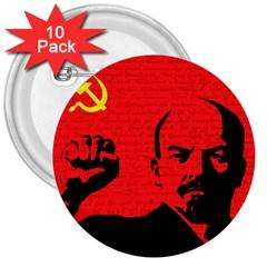 Lenin  3  Buttons (10 Pack)  by Valentinaart
