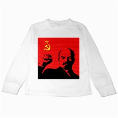 Lenin  Kids Long Sleeve T Shirts by Valentinaart