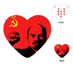 Lenin  Playing Cards (heart)  by Valentinaart