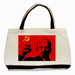 Lenin  Basic Tote Bag (two Sides) by Valentinaart