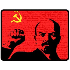 Lenin  Fleece Blanket (large)  by Valentinaart