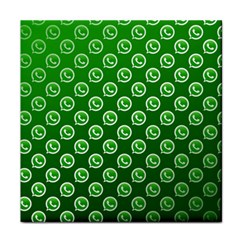 Whatsapp Logo Pattern Tile Coasters