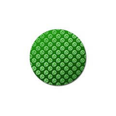 Whatsapp Logo Pattern Golf Ball Marker (10 Pack) by Simbadda
