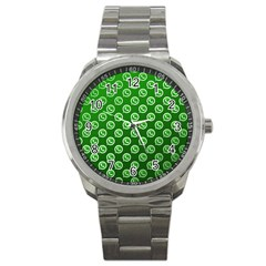 Whatsapp Logo Pattern Sport Metal Watch by Simbadda