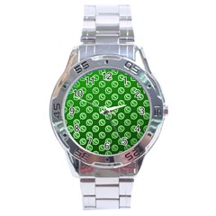 Whatsapp Logo Pattern Stainless Steel Analogue Watch by Simbadda
