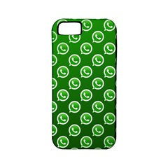 Whatsapp Logo Pattern Apple Iphone 5 Classic Hardshell Case (pc+silicone) by Simbadda