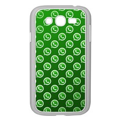 Whatsapp Logo Pattern Samsung Galaxy Grand Duos I9082 Case (white) by Simbadda