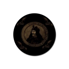 Count Vlad Dracula Rubber Coaster (round)  by Valentinaart