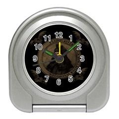 Count Vlad Dracula Travel Alarm Clocks by Valentinaart