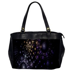 Fractal Patterns Dark Circles Office Handbags by Simbadda