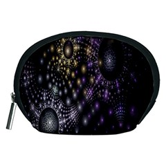 Fractal Patterns Dark Circles Accessory Pouches (medium)  by Simbadda