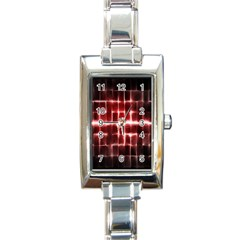 Electric Lines Pattern Rectangle Italian Charm Watch by Simbadda