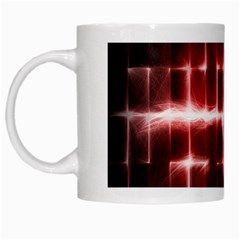 Electric Lines Pattern White Mugs