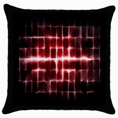 Electric Lines Pattern Throw Pillow Case (black) by Simbadda