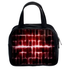 Electric Lines Pattern Classic Handbags (2 Sides) by Simbadda