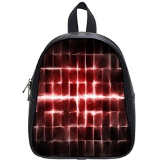 Electric Lines Pattern School Bags (small)  by Simbadda