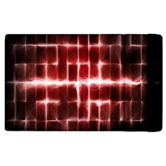 Electric Lines Pattern Apple Ipad 2 Flip Case by Simbadda