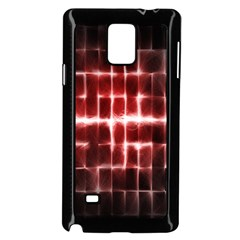 Electric Lines Pattern Samsung Galaxy Note 4 Case (black)