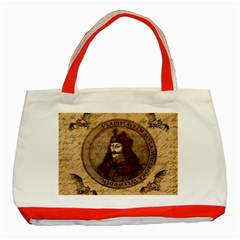 Count Vlad Dracula Classic Tote Bag (red) by Valentinaart