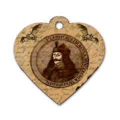Count Vlad Dracula Dog Tag Heart (two Sides) by Valentinaart