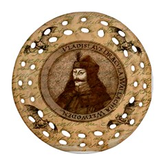 Count Vlad Dracula Round Filigree Ornament (two Sides) by Valentinaart