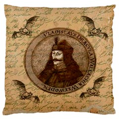 Count Vlad Dracula Large Flano Cushion Case (one Side) by Valentinaart