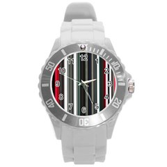Miracle Mile Pattern Round Plastic Sport Watch (l) by Simbadda