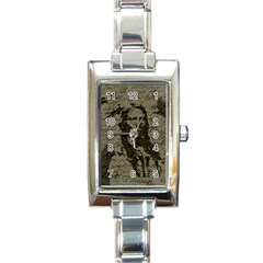 Indian Chief Rectangle Italian Charm Watch by Valentinaart