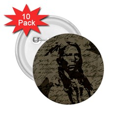 Indian Chief 2 25  Buttons (10 Pack)  by Valentinaart