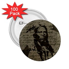 Indian Chief 2 25  Buttons (100 Pack)  by Valentinaart