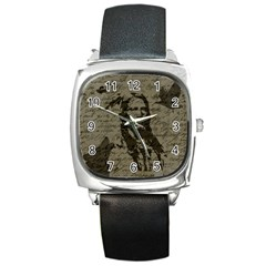 Indian Chief Square Metal Watch by Valentinaart