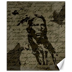 Indian Chief Canvas 8  X 10  by Valentinaart