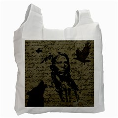 Indian Chief Recycle Bag (two Side)  by Valentinaart