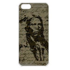 Indian Chief Apple Iphone 5 Seamless Case (white) by Valentinaart