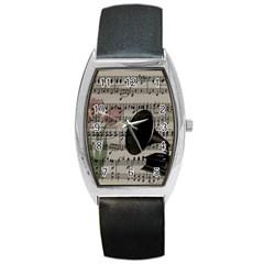 Vintage Music Design Barrel Style Metal Watch by Valentinaart