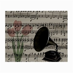 Vintage Music Design Small Glasses Cloth (2 Side) by Valentinaart